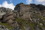 Impressive rock formations near the top! The route was VERY well marked, as you can see