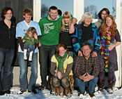And one with extended family - with Kaya and Mare, Daphne and Paul. Pity everybody is trying to avoid looking into the sun, but it's quite a rare photo :)