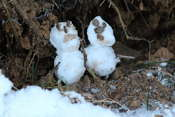 Two miniature snowmen, so cute!