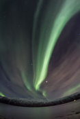 A bright beam straight overhead