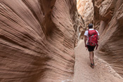 Getting to the narrow bit of Little Wild Horse Canyon