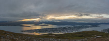 Tromsø island at sunset