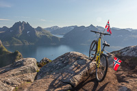 The Arctic Race of Norway took place her recently, and someone had put a bike on top of the mountain