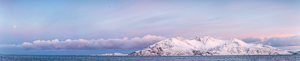 A panorama of Vengsøya in the pretty light