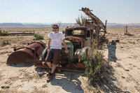 Paul and the old truck. Behind him you can see the drinking trough, which actually had water in it