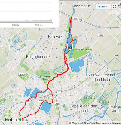 Map of my bike trip