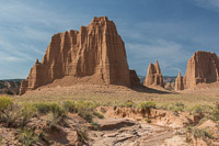 Another stop at the monoliths of Cathedral Valley