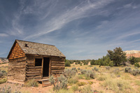 Morrell Cabin, or also known as Les's cabin, it was used by cowboys passing through the valley with cattle between 1930 and 1970