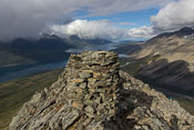 The cairn at 800-meteren, which really is 857 m high