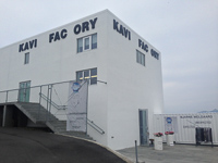 Art museum in Henningsvær. The missing letters in Kaviar Factory spell ART