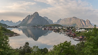 Picturesque Reine in the evening, when it finally cleared up