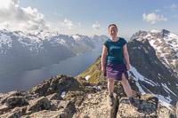 Me on top of Buren with Ersfjorden in the background