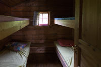 One of the 2 bedrooms, you can sleep 8 people in this cabin
