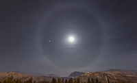 Nice halo around the moon!