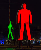 Huge traffic light men