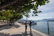The promenade along lake Lucerne