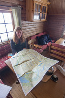 Studying the map and our progress