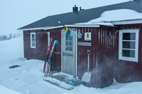 Unna Allakas, the first Swedish hut on our trip