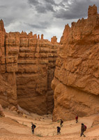 The zig-zag path down into the canyon, this is a (vertical) panorama of three images - it wouldn't fit otherwise!