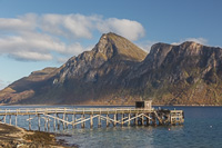 The jetty at Sessøya - slightly crooked and falling apart ;)