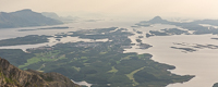 Brønnøysund seen from a mountain top - pity it was so hazy that day!