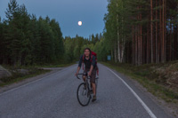 Cycling back to the cabin on deserted roads