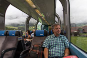 Enjoying the panoramic view on the Golden Pass Line