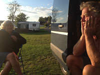 My parents at the campground just north of Trondheim