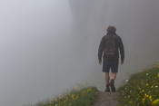 My dad walking off into the mist