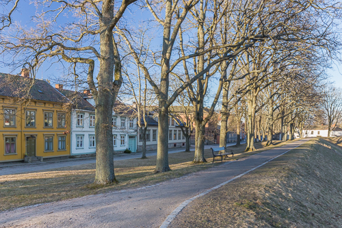 Fredrikstad in soft evening light