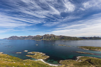 View towards Rebbenesøya - lovely clouds!