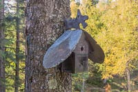 The farm was surrounded by LOTS of birdhouses, like this fancy one