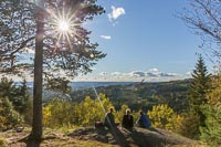 Three girls enjoying the view towards Holmenkollen