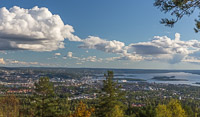 The view over Oslo from Vettakollen