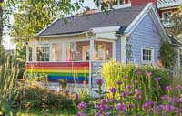 A rainbow cottage