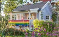 A rainbow cottage