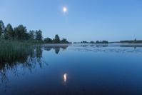 A final photo of our pretty little lake in the moonlight