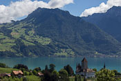 View from outside Spiez train station, where we waited for our train towards Zermatt