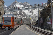 At the top of the Gornergrat Bahn