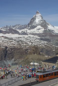 The Gornergrat train station
