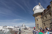 The observatory at Gornergrat. I lost my dad just after taking this picture (can you find him?) He rushed inside to find wifi for his tablet :D