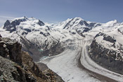 Nice view over the Gorner glacier