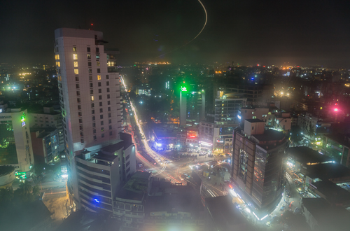Dhaka by night, view from my hotel room
