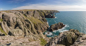 The impressive wild cliffs on the west side of Lundy
