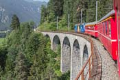 Our train passing another bridge... bye bye Switzerland, hope to be back soon!