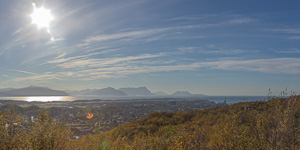 View over the city of Bodø