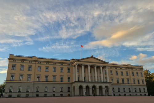 The Royal Palace at sunset