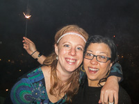 Happy New Year! With Penny, who was hosting the party