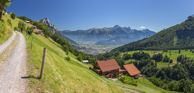 Looking back to Sargans where I started my journey