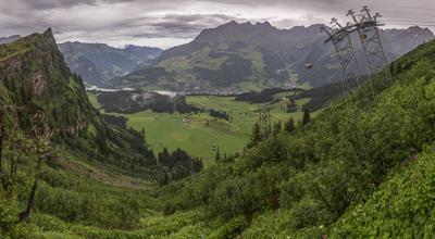 Looking down towards Engelberg
